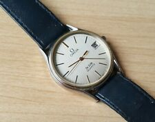 Men's Vintage 1980 Presentation Engraved Omega De Ville Quartz Wrist Watch