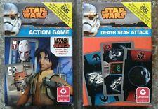 Star Wars Action Card Games Rebels & Death Star Attack by Cartamundi MINT