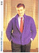PROFESSOR knitting pattern, cardigan - Marshall Cavendish pamphlet MK54