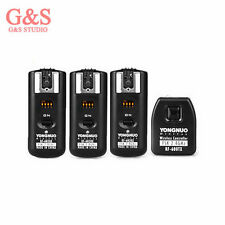 Yongnuo RF-602 RF602 2.4GHz Wireless Remote Flash Trigger 3 Receivers for Canon