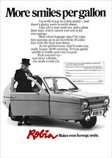 RELIANT ROBIN 3 WHEELER RETRO POSTER A3 PRINT FROM 70'S ADVERT