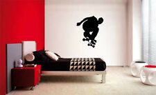 SKATER SKATEBOARD BOYS WALL ART BEDROOM VINYL DECAL
