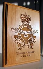 CANADA  RCAF Royal Canadian Air Force  Engraved Wooden Plaque