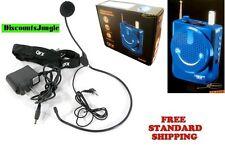 Qfx Bt-90 Portable Bluetooth Pa System Headset Mic Usb Micro Sd Fm Radio Blue