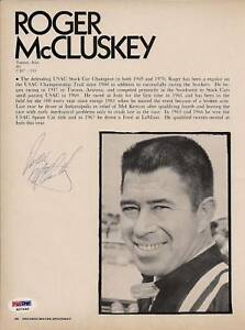 Roger McCluskey Signed 8x10 Magazine Photo PSA/DNA COA IndyCar Picture Autograph
