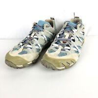 Merrell Women 7.5M Continuum White Blue Mesh Hiking Trail Running Water Shoes