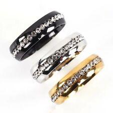Men Women Silver Gold Stainless Steel Ring Band Titanium Wedding Engagement Ring