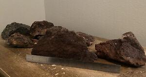 "Set of 3 Extra Large 7 - 8"" Lava Rock Stone Fish Tank Aquarium Landscaping"