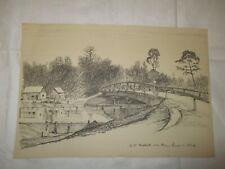 um 1939 Organisation Todt -  O.T. Notbrücke über kleinen Kanal im Elsaß