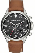 NEW MICHAEL KORS MK8333 MENS LEATHER GAGE CHRONOGRAPH WATCH - 2 YEAR WARRANTY