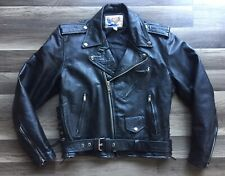 Eagle Leather Wear Biker Jacket Mens 42 (medium) Great Black