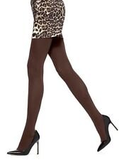 HUE Opaque NON-CT Tights Espresso Brown NWT size 1