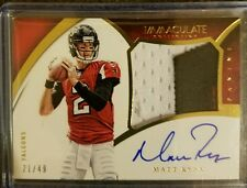 MATT RYAN IMMACULATE RPA AUTO 21/49 3 COLOR JUMBO PATCH 2015 HARD SIGNED *MVP?
