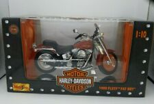 Maisto Harley-Davidson Motorcycles 1999 FLSTF FAT BOY 1:10 Diecast Model Red