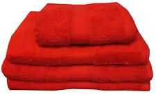 RED 500 GSM EGYPTIAN COTTON TOWELS LUXURY COMBED COTTON CRIMSON FACE BATH SHEET