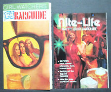 PLAYBOY MAGAZINE - GIRL WATCHERS - NITE LIFE HAPPY HOUR BARGUIDES, LOT OF 2
