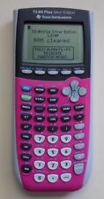 TI 84 Plus Silver Edition Graphing Calculator Texas Instruments.  Pink   P-0410P