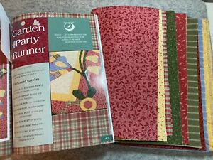 """Thimbleberries Quilt Kit fabric and Book Garden Party Runner 26.5"""" x 52"""""""