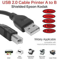 1M 1.8M 2M 3M 5M USB Cable Printer Lead A TO B Male High Speed Epson Kodak HP UK