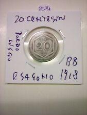 20 CENTESIMI ESAGONO 1918 BB (BORDO LISCIO)  N.2081