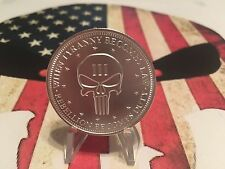 1/4 oz .999 Silver Punisher coin, end tyranny, second amendment rebellion 2nd