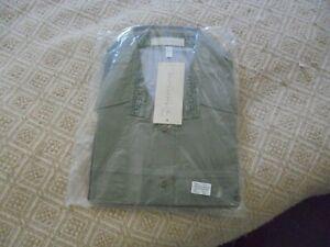 mens safari shirt short sleeved size XXL Olive Green