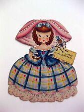 1947 Hallmark Paper Doll Card Land of Make Believe Little Miss Muffet B