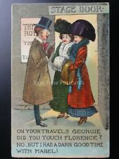 Travel Theme ON YOUR TRAVELS GEORGIE DID YOU TOUCH FLORENCE... c1912 Comic PC