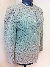 Andrea Viccaro Blazer Jacket Gray Wool Blend IVY Design Lined NWT
