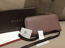 Gucci New $525 Zip Around Wallet Tan Pink Wallet Authentic Gold Fast Shipping