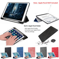 Shockproof Sleep/Wake Slim Stand Case Cover With Pencil Holder For Apple iPad
