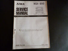 ORIGINALI service manual AIWA nsx-800