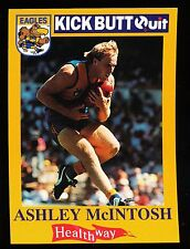 1996 West Coast Eagles Kick Butt Quit Ashley McIntosh Card No. 9 Healthway