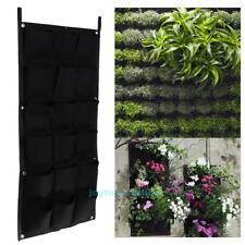 18 Pocket Wall Mount Hanging Vertical Garden Planter Indoor Outdoor Herb Pot Bag