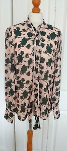 New With Tags Alter Tall Pussy Bow Blouse Size 12