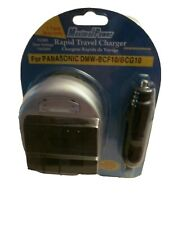 New Rapid Travel Charger for Panasonic Lumix  DMW-BCF10 BCG10 FC600 110 220V AC