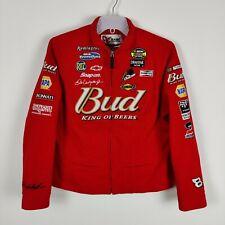 More details for women's chase authentics nascar jacket #8 dale earnhardt jr size s budweiser