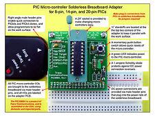 PIC Microcontroller Development Prototype Adapter and Free Solderless Breadboard
