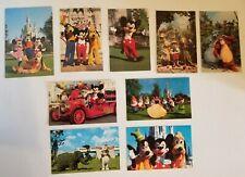 Vintage DISNEY WORLD Mickey Goofy Dumbo Pluto Minnie 9 Postcards Walt Disney