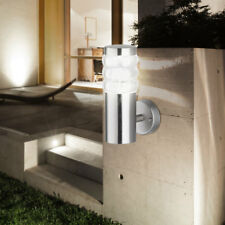 Wall lamp outdoor area motion detector stainless steel arched garden lighting
