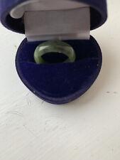 Beautiful Natural Green Jade Ring UK Size M