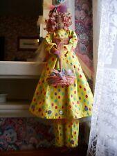 """Handmade Primitive Folk Art Doll -Ell's Easter Eggs- 22"""""""