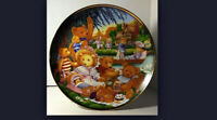"VINTAGE 1991 FRANKLIN MINT ""A TEDDY BEAR PICNIC"" COLLECTOR PLATE"