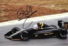9x6 Photograph Gabriele Tarquini , AGS-Cosworth JH24 ,Brazili GP Interlagos 1990