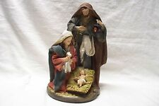 "Christmas 14"" Deluxe Hand Painted Resin Hand Pint Holy Family Nativity Scene Set"