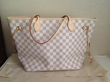 New Louis Vuitton Damier Azur Neverfull MM Tote Bag Handbag
