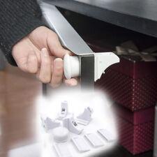 4+1Pack Child Safety Cabinet Locks Magnetic Kids Cupboard Locking System #D