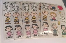 Sandylion Charlie Brown Stickers lot of 5 SHEETS 4 X 6