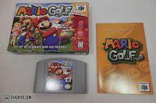 MARIO GOLF  (Nintendo 64 1999)   COMPLETE IN BOX!!   N64   CIB!!