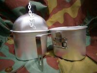US Borraccia americana alluminio M10 Seconda Guerra, Army aluminium canteen WWII